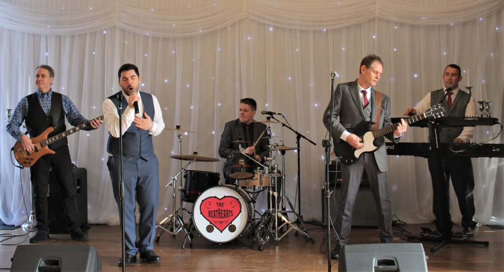 Wedding band, the Beathearts, in action.
